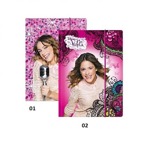 Violetta mappa gumis A 4 méret - Gyerekajándék d7ecb85e6e