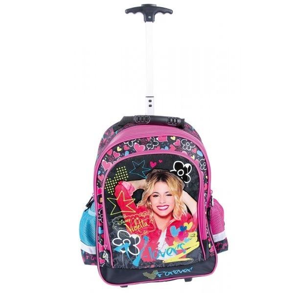 8cf56f01c7ae Violetta iskolatáska, hátizsák gurulós 2 - Gyerekajándék