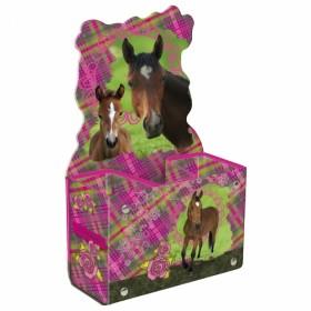 lovas asztali tolltartó - édes lovak