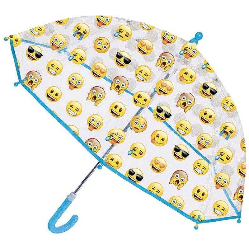 Emoji átlátszó esernyő - Gyerekajándék d5eaf79516