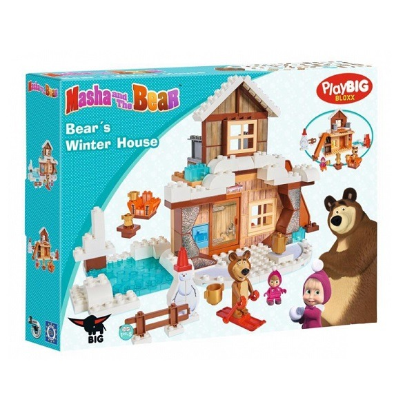 Mása és a Medve - Téli ház 123 db-os építőkészlet - BIG BLOXX ... 187b1d34d3