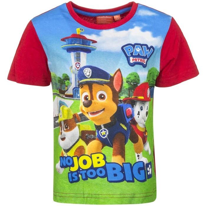 Mancs őrjárat póló - Boy Pup - piros - Gyerekajándék 995048f19a
