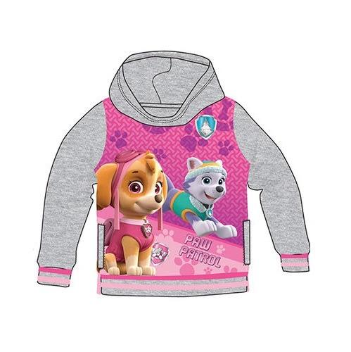 Mancs őrjárat kapucnis pulóver lányoknak - szürke - Gyerekajándék 10c6ef6f55