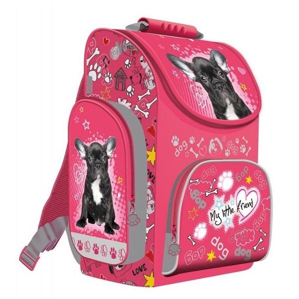 2facf745ce83 Kutyás dobozos iskolatáska ergonomikus Bulldog - Gyerekajándék