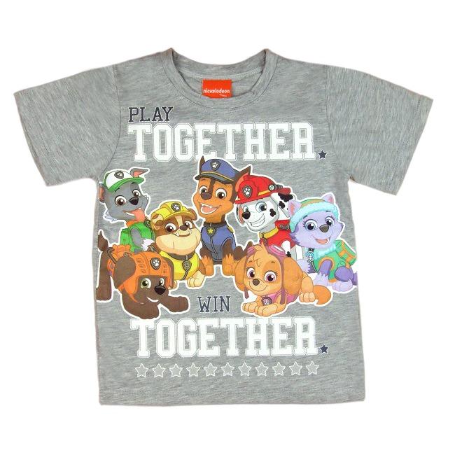 Mancs őrjárat póló - Play szürke - Gyerek póló - Gyerekajándék 8331c3f029