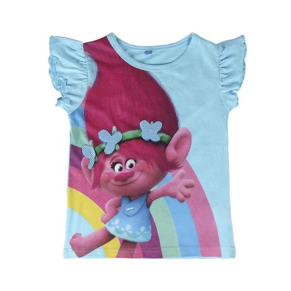 Trollok Pipacs póló fodros ujjú - Gyerekajándék 8524152739