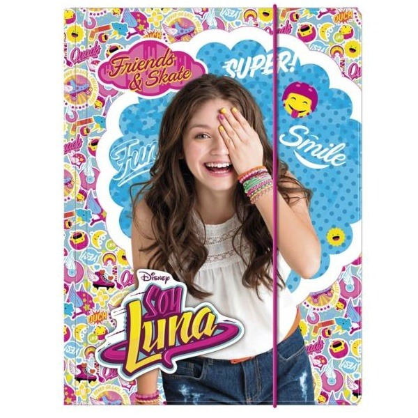 Soy Luna gumis mappa A4 - emoji - Gyerekajándék 055556d1db