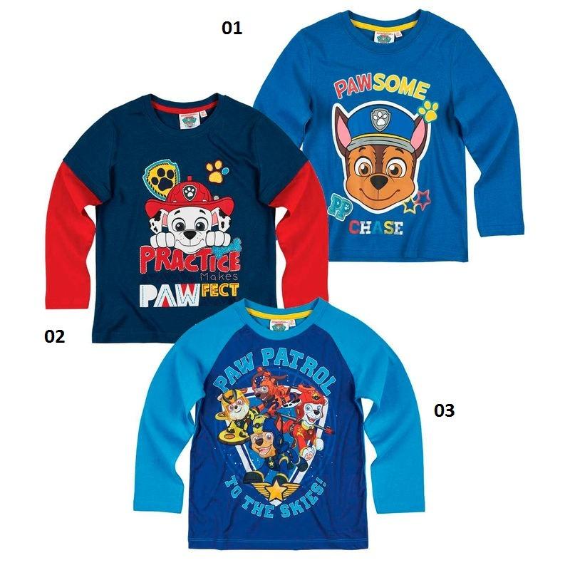 74e205dea5 Mancs őrjárat hosszú ujjú póló - kék 3-féle - Gyerekajándék
