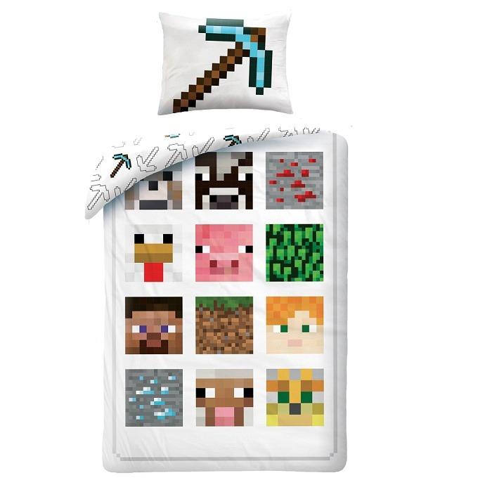 Minecraft ágyneműhuzat szett - fehér - Gyerekajándék 2d0172f0d4