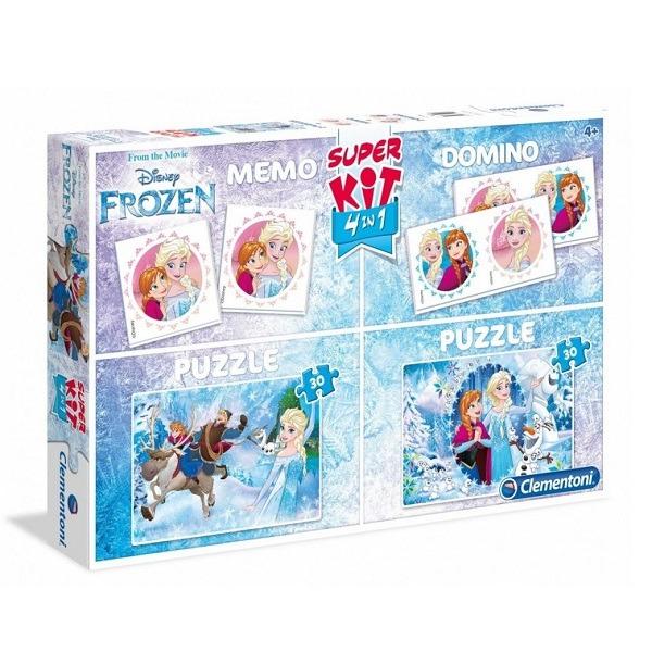 Disney Jégvarázs 4in1 – 2 db puzzle + memóriajáték + dominó Clementoni 46a8bc9330