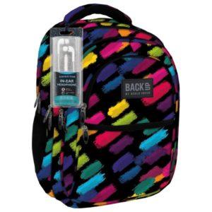 51c8366c022a BackUp anatómiai iskolatáska, hátizsák – színes ecset csíkokkal