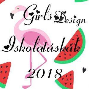 Design lányos iskolatáska 2018 - Gyerekajándék 91540c6ab9