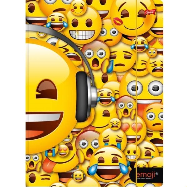 Emoji A4-es gumis mappa - emoji fejek - Gyerekajándék c5e68b5b0d