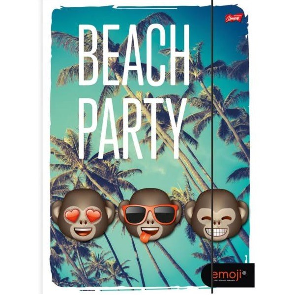 Emoji A4-es gumis mappa - Beach Party - Gyerekajándék eab90c6aa7