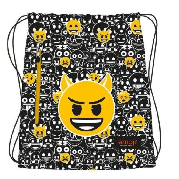 Emoji tornazsák - Fekete-Fehér - Gyerekajándék 61b2325120