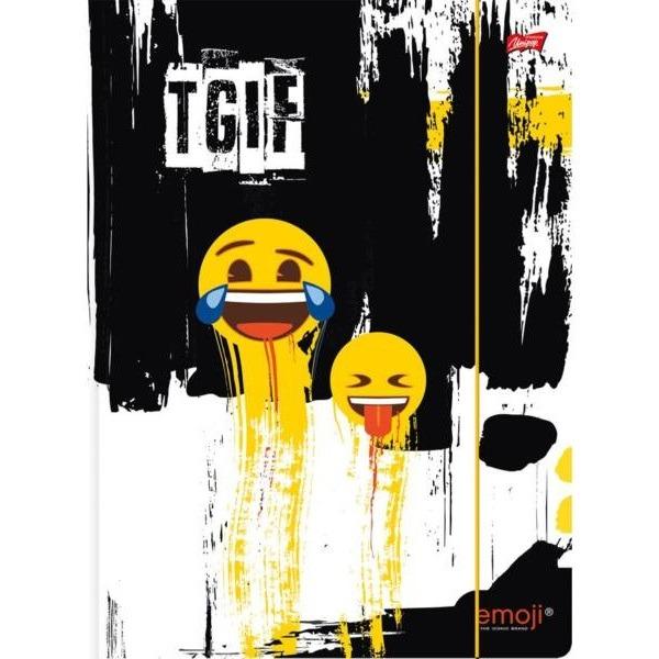 Emoji A4-es gumis mappa - fekete emoji - Gyerekajándék 246cc781b4
