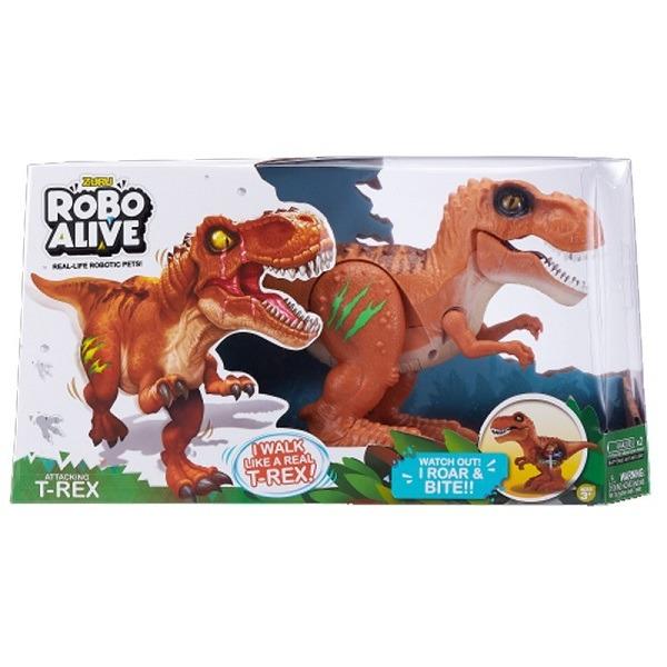 Robo Alive dinoszaurusz - barna T-Rex - Gyerekajándék abe327153c