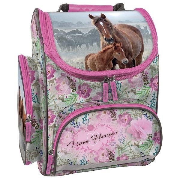 a965e2630b26 Lovas ergonomikus iskolatáska - Flower Horses - Gyerekajándék