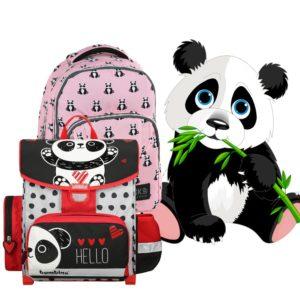 Panda iskolatáska