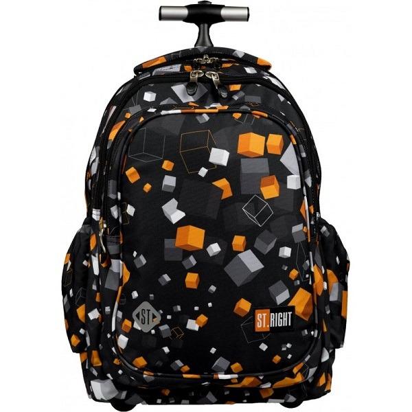 436056651a18 St. Right gurulós iskolatáska, hátizsák Cubes - Gyerekajándék