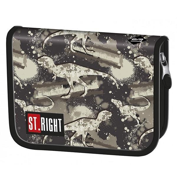 624152e87e06 St. Right Dinoszaurusz tolltartó - kihajtható - Gyerekajándék