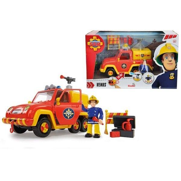 Sam a tűzoltó jármű figurával