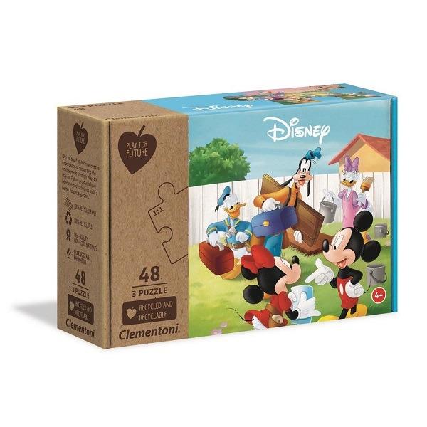 Mikcey és barátai puzzle 3x48 db-os - Clementoni