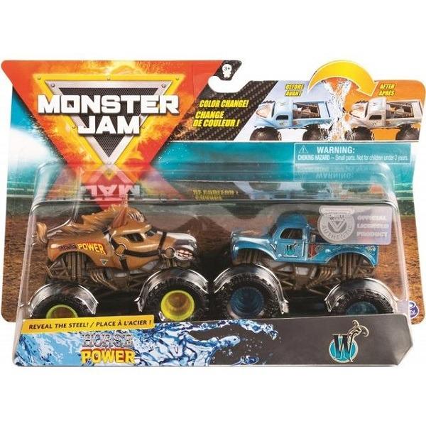 Monster Jam autó 2 db-os szett Horse Power és W