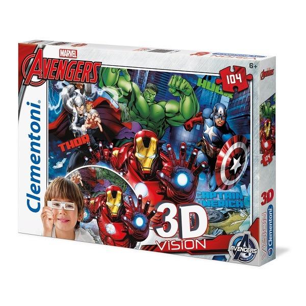 Avengers 104 db-os 3D Vision puzzle