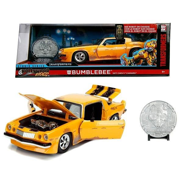 Transformers Bumblebee fémautó érmével 1:24 - Jada