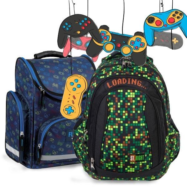 Gamer iskolatáska
