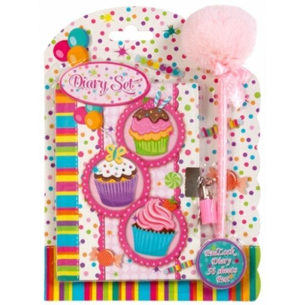 Muffin kulcsos napló tollal